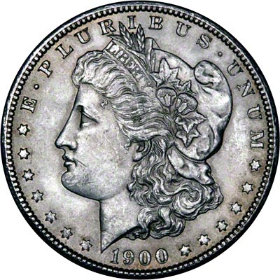 1900 American Silver Dollars Morgan Type