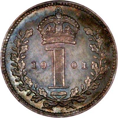 Reverse of 1901 Maundy Penny