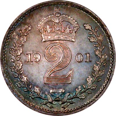 Reverse of 1901 Maundy Twopence