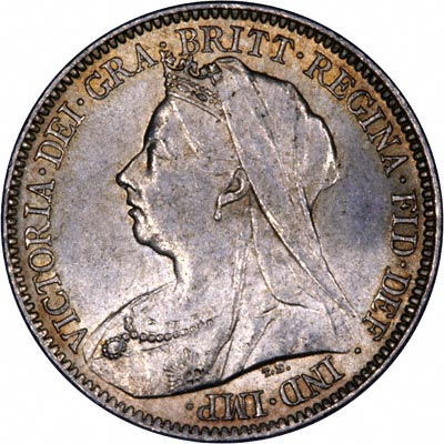 Obverse of 1901 Sixpence