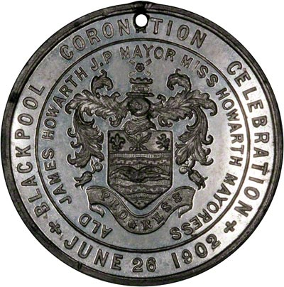 Reverse of 1902 Coronation Medallion