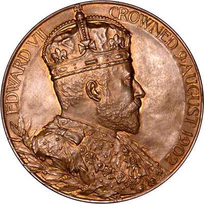 Obverse of 1902 Copper Coronation Medallion