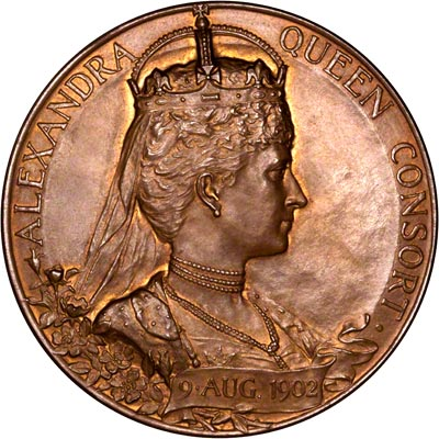 Reverse of 1902  Coronation Medallion