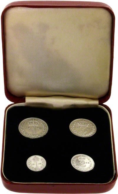 1902 Maundy Set in Red Presentation Box