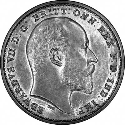 Obverse of 1902 Maundy Fourpence
