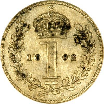 Reverse of 1902 Maundy Penny