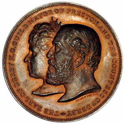 Obverse of Preston Guild Medallion 1902