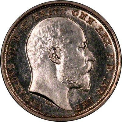 Obverse of 1903 Maundy Fourpence