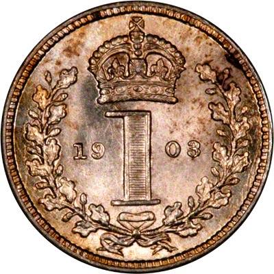 Reverse of 1903 Maundy Penny