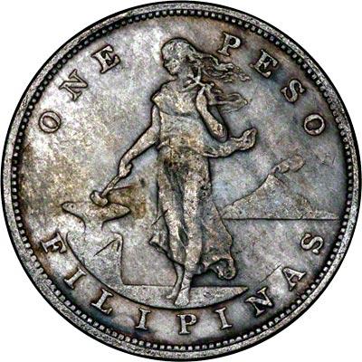 Obverse of 1903 Philippine 1 Peso