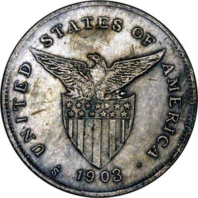 Reverse of 1903 Philippine 1 Peso