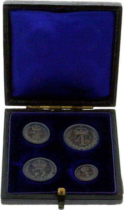 1904 Maundy Set in Black Presentation Box