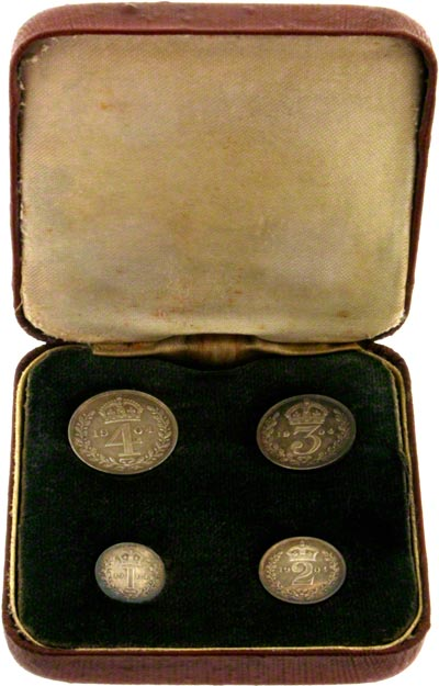 1904 Maundy Set in Red Presentation Box