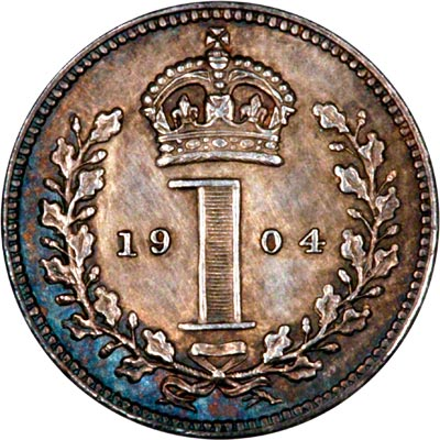 Reverse of 1904 Maundy Penny