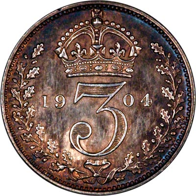 Reverse of 1904 Maundy Threepence
