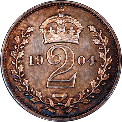 Reverse of 1904 Maundy Twopence