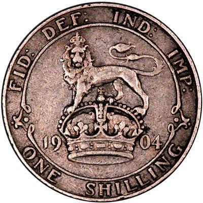 Reverse of 1904 Shilling