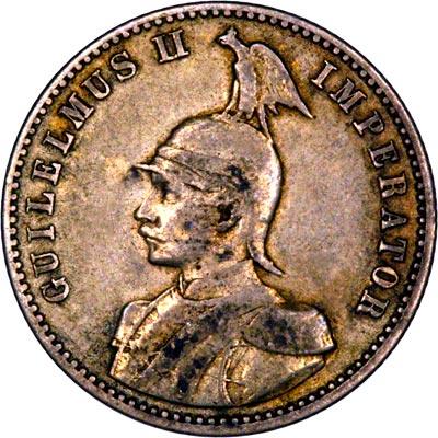 Obverse of 1906 German East Africa Half Rupie