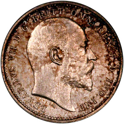 Obverse of 1906 Maundy Fourpence