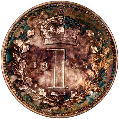 Reverse of 1906 Maundy Penny