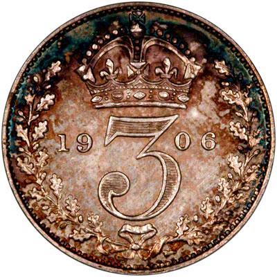 Reverse of 1906 Maundy Threepence