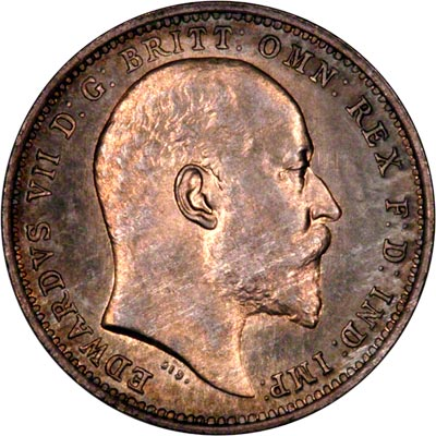 Obverse of 1907 Maundy Fourpence