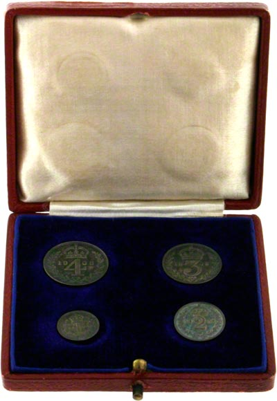 1908 Maundy Set in Red Presentation Box