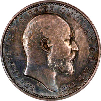 Obverse of 1908 Maundy Fourpence