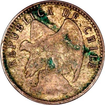 Obverse of 1910 Chile 5 Centavos