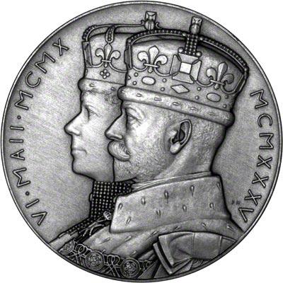 Obverse of 1935 Silver Jubilee Medallion