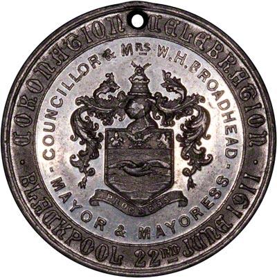 Reverse of 1911 Coronation Medallion