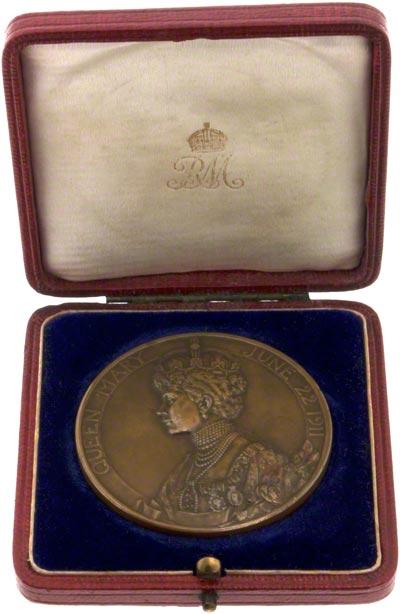 1911 Official Coronation Bronze Medallion in Presentation Box