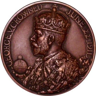Obverse of 1911 Bronze Coronation Medallion