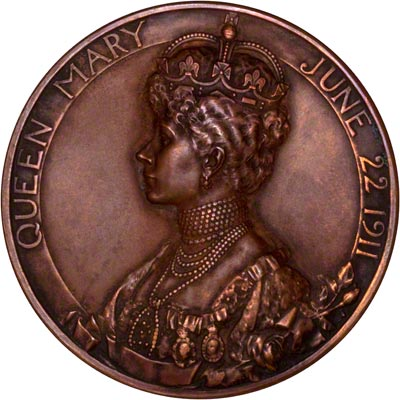Reverse of 1911 Bronze Coronation Medallion