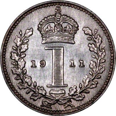 Reverse of 1911 Maundy Penny