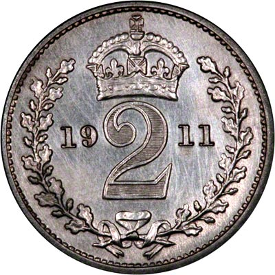 Reverse of 1911 Maundy Twopence