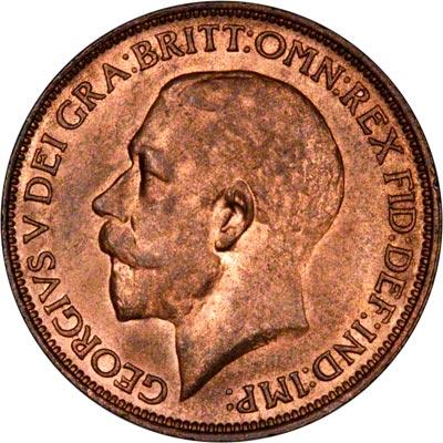 Obverse of 1912 Half Penny