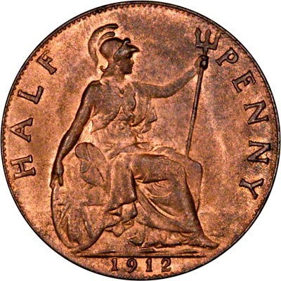 Reverse of 1912 Half Penny