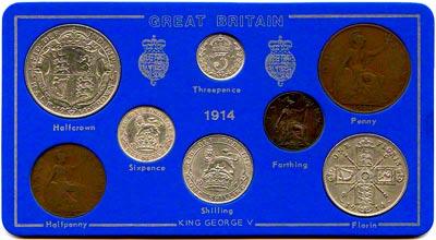 1914 British 163 Sd Coin Sets