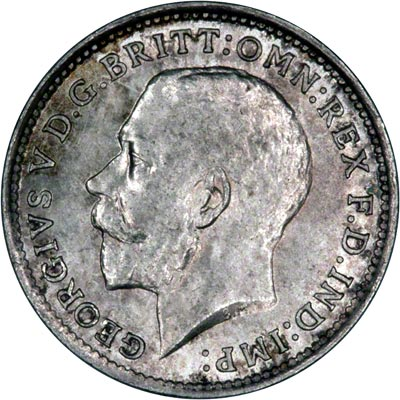 Obverse of 1914 Maundy Threepence
