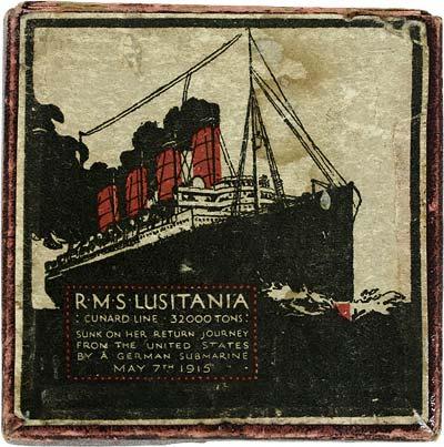 RMS Lusitania Medal Presentation Box