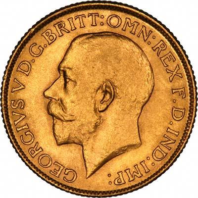 George V Sovereign Obverse