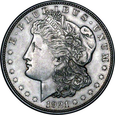 1921 American Silver Dollars Morgan Type