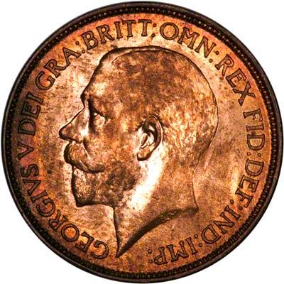Obverse of 1924 Half Penny