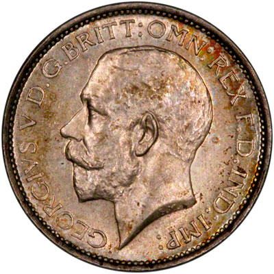 Obverse of 1924 Maundy Fourpence