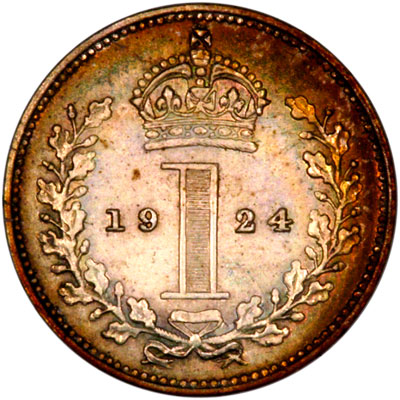 Reverse of 1924 Maundy Penny