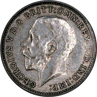 Obverse of 1925 Maundy Threepence