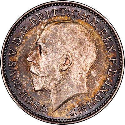Obverse of 1926 Maundy Threepence