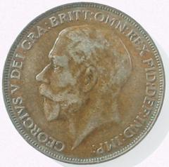 Obverse of First Type 1926 Penny