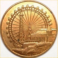 Obverse of Blackpool Big Wheel Medallion